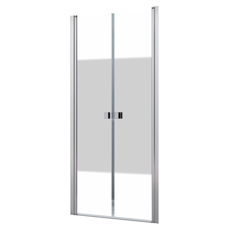 Porte de douche battante 80 cm s rigraphi neo sensea severo ferrary porte de douche - Porte douche neo ...