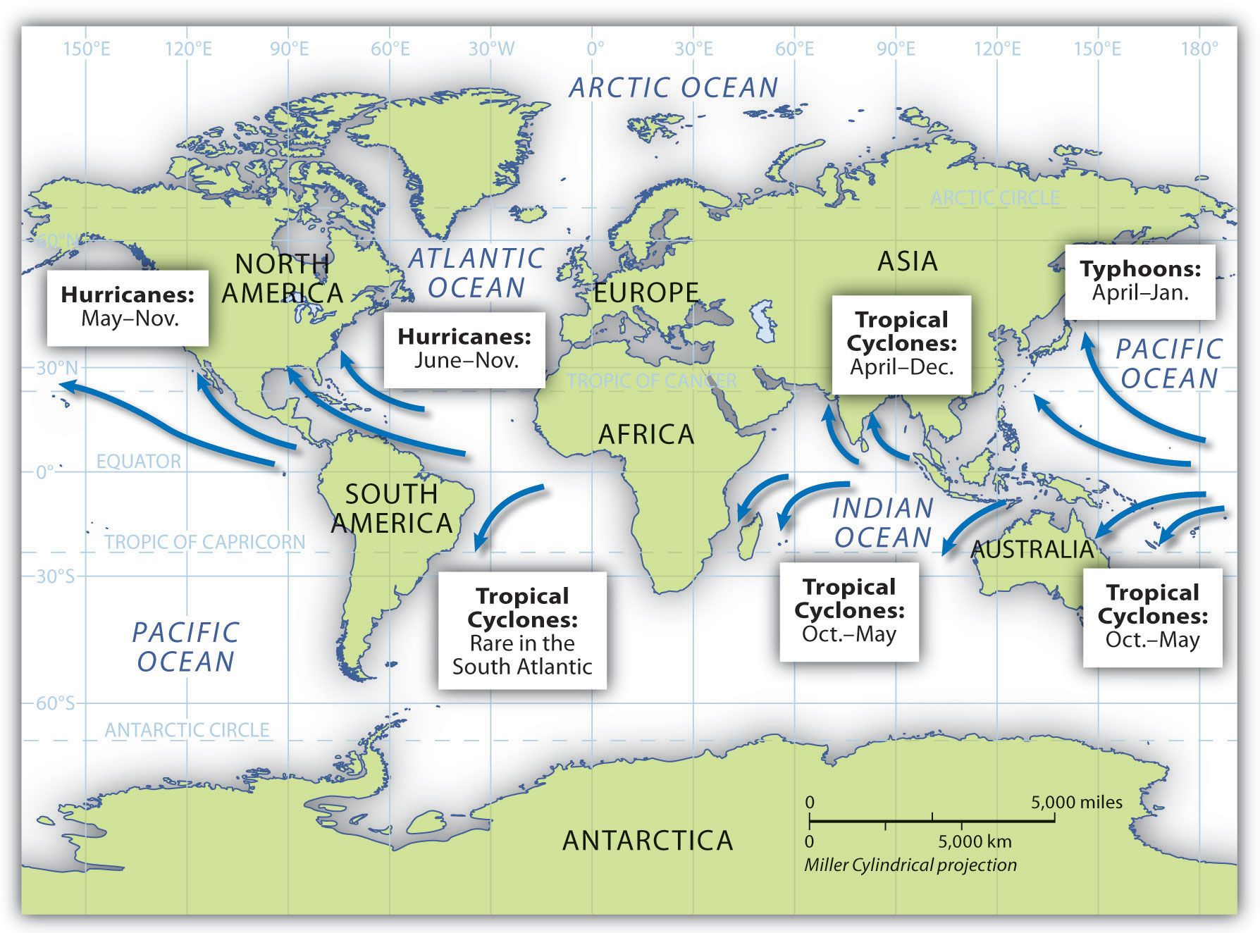 Tropical Cyclones Hurricanes Cyclone Hurricane Arctic Ocean