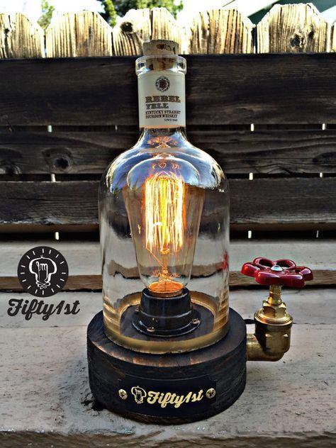 rustic desk lamp rebel reclaimed wood light industrail table lamp pinterest. Black Bedroom Furniture Sets. Home Design Ideas
