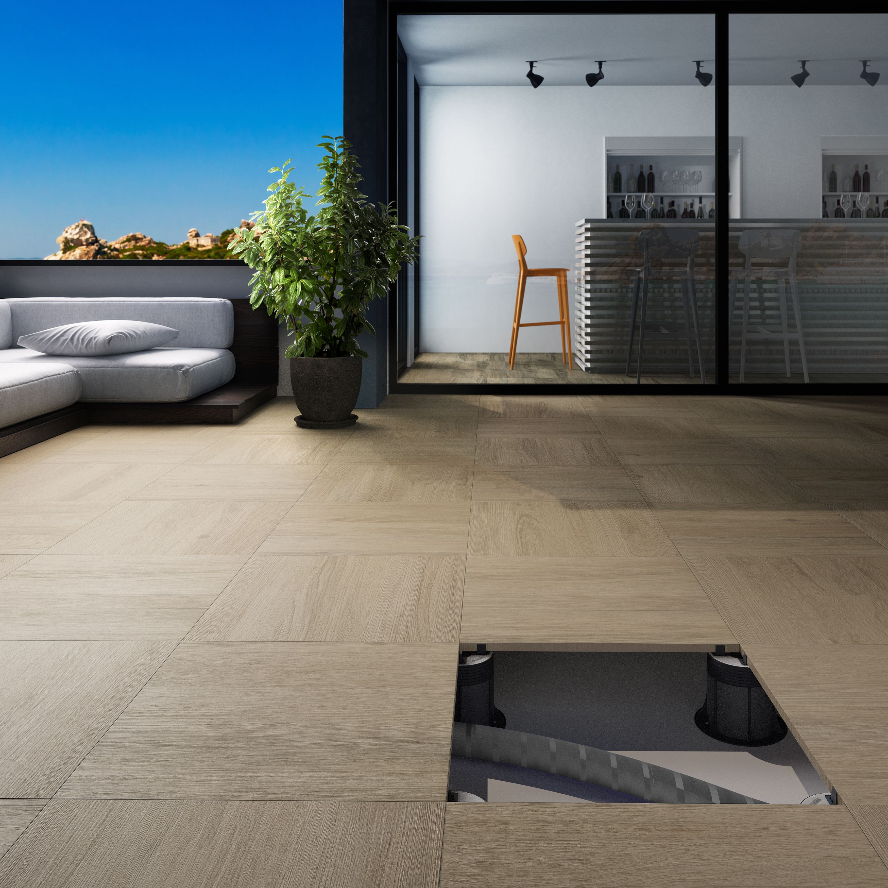 Outdoor porcelain tiles can be installed on to pedestals for easy outdoor porcelain tiles can be installed on to pedestals for easy mess free fixing dailygadgetfo Gallery