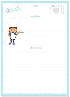 plantilla receta cocina - Buscar con Google | Recipe cards | Recetas ...
