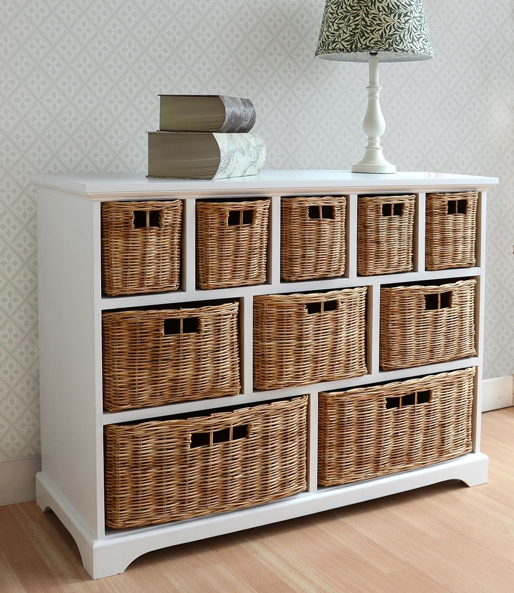 Tetbury Storage Unit Large Chest Of Drawers Storage Baskets Fully Assembled