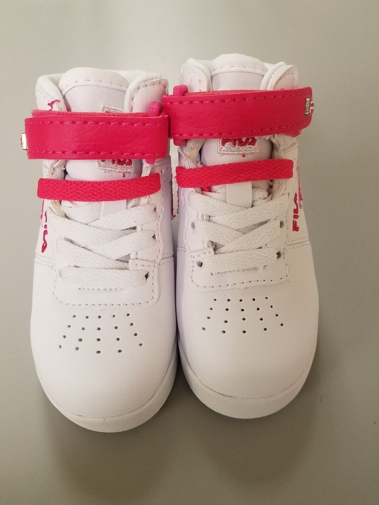 Brand new Fila toddler girl pink and white size 6 #fashion