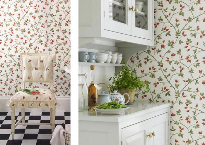 Papel pintado en la cocina cocinas pinterest - Papel pintado en cocina ...
