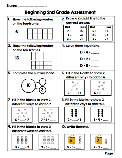 photograph regarding First Grade Math Assessment Printable identified as 2nd quality pre- math essment. Retain the services of for essment towards display