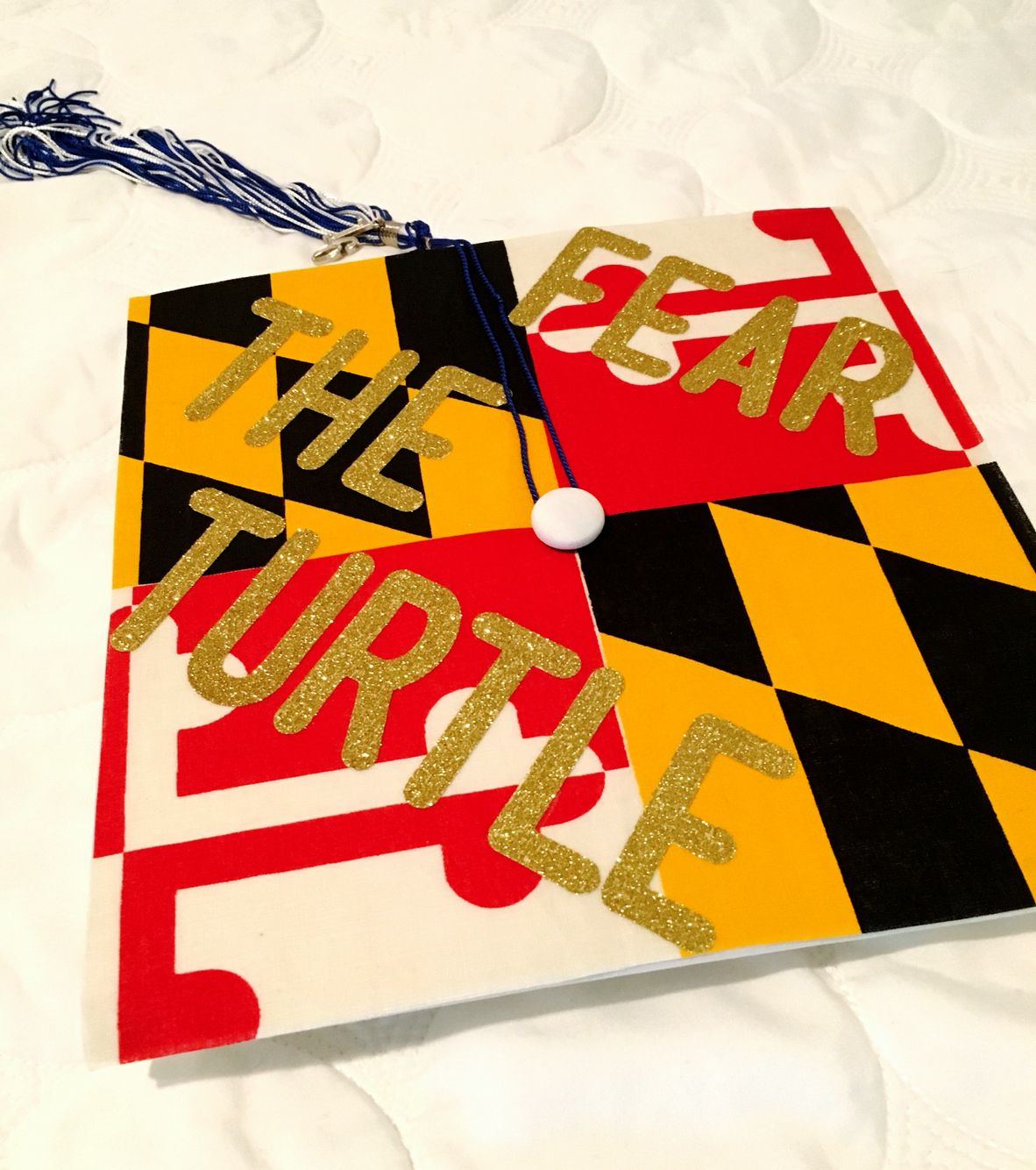 My graduation cap for University of Maryland! | Sorority | Pinterest ...