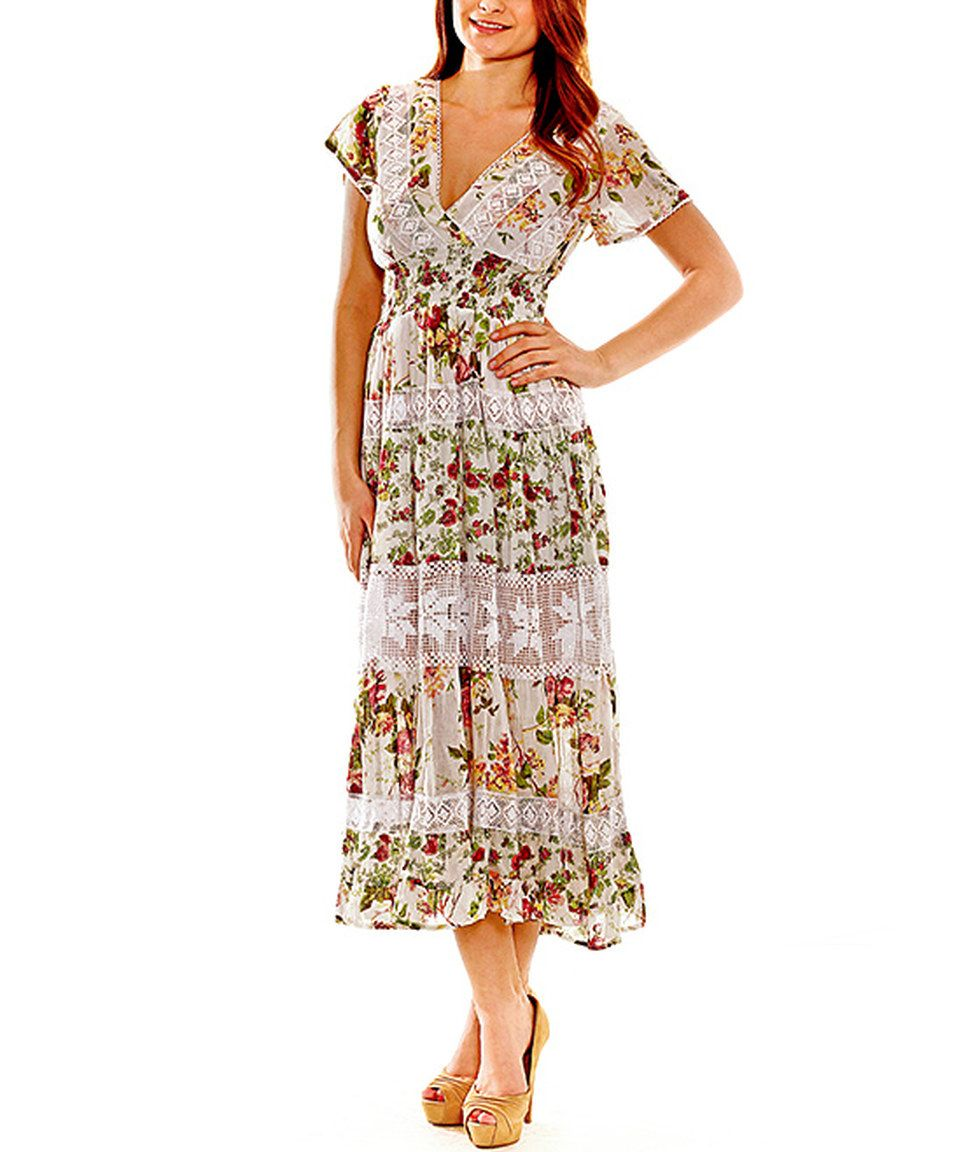 Loving this sol clothing green u pink floral maxi dress on zulily