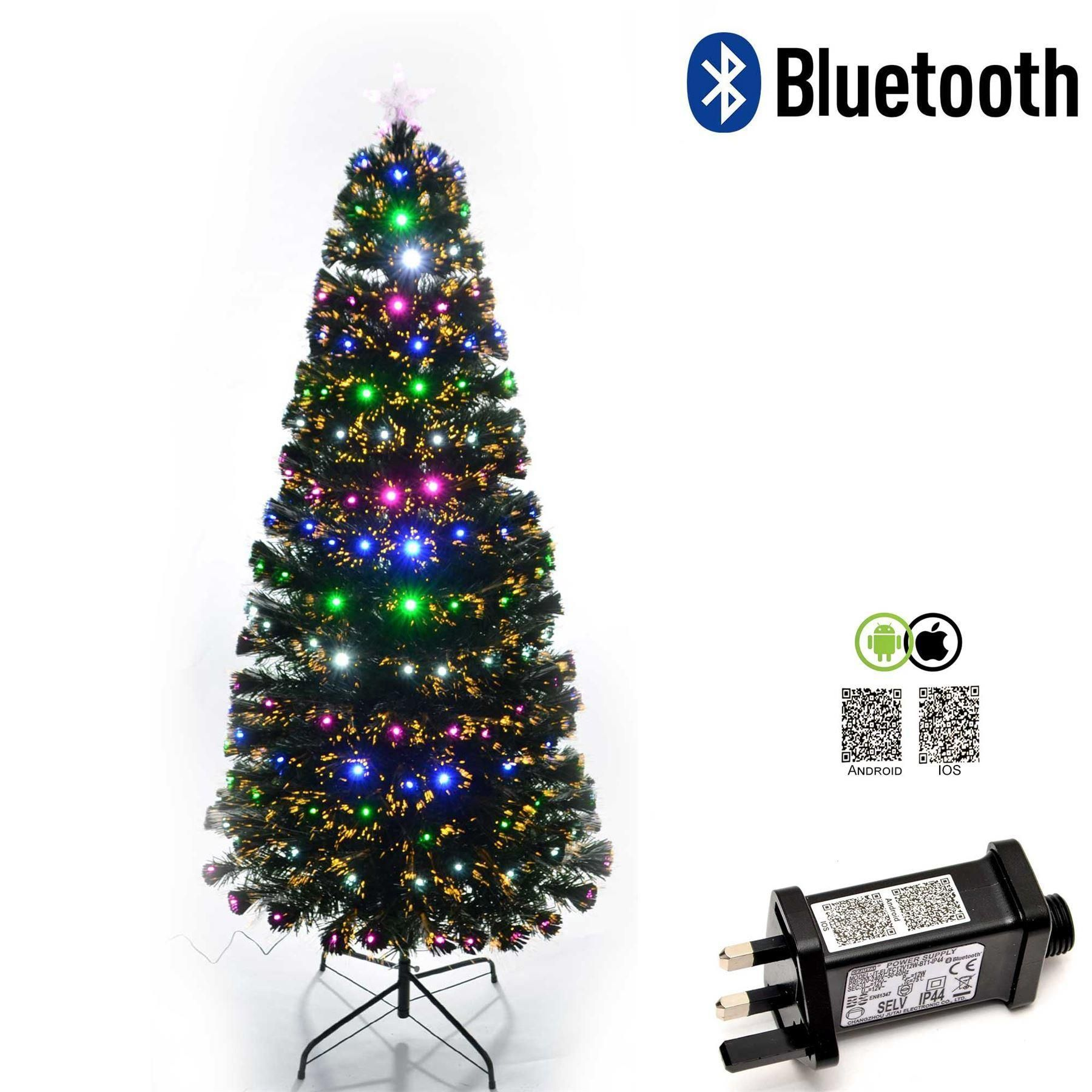 4ft  LED Fibre Optic Christmas Tree Multi Colour Changing with Various Effects