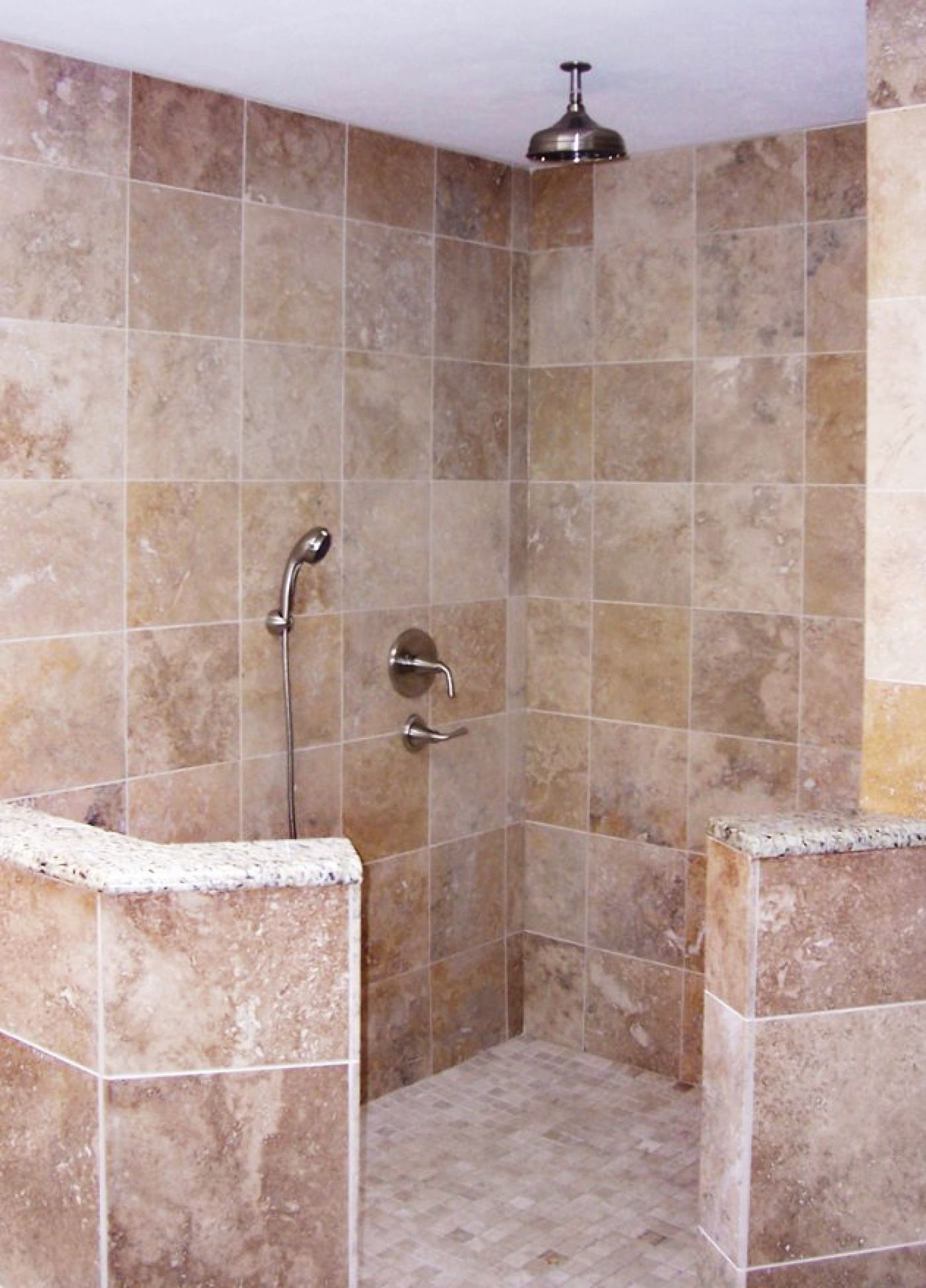 Walk in shower designs for small bathrooms - Bathroom Ideas Small Bathroom With Shower Designs With Walk In Shower No Door And Brown Tile Bathroom Ideas And Traditional Shower Sets Small Bathroom