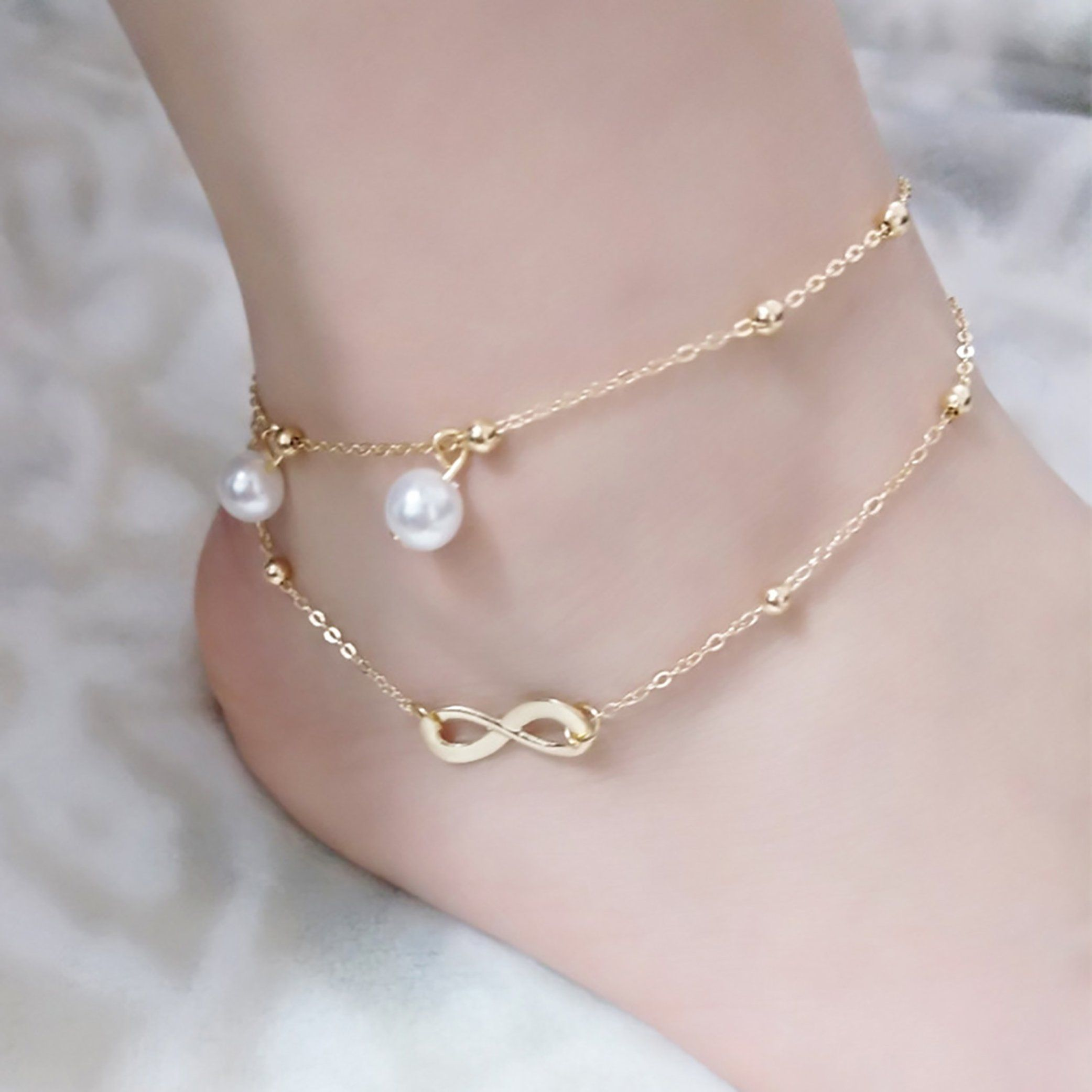 plated sophia in jewelry lyst gallery kokosalaki mytilus anklet gold bangle metallic