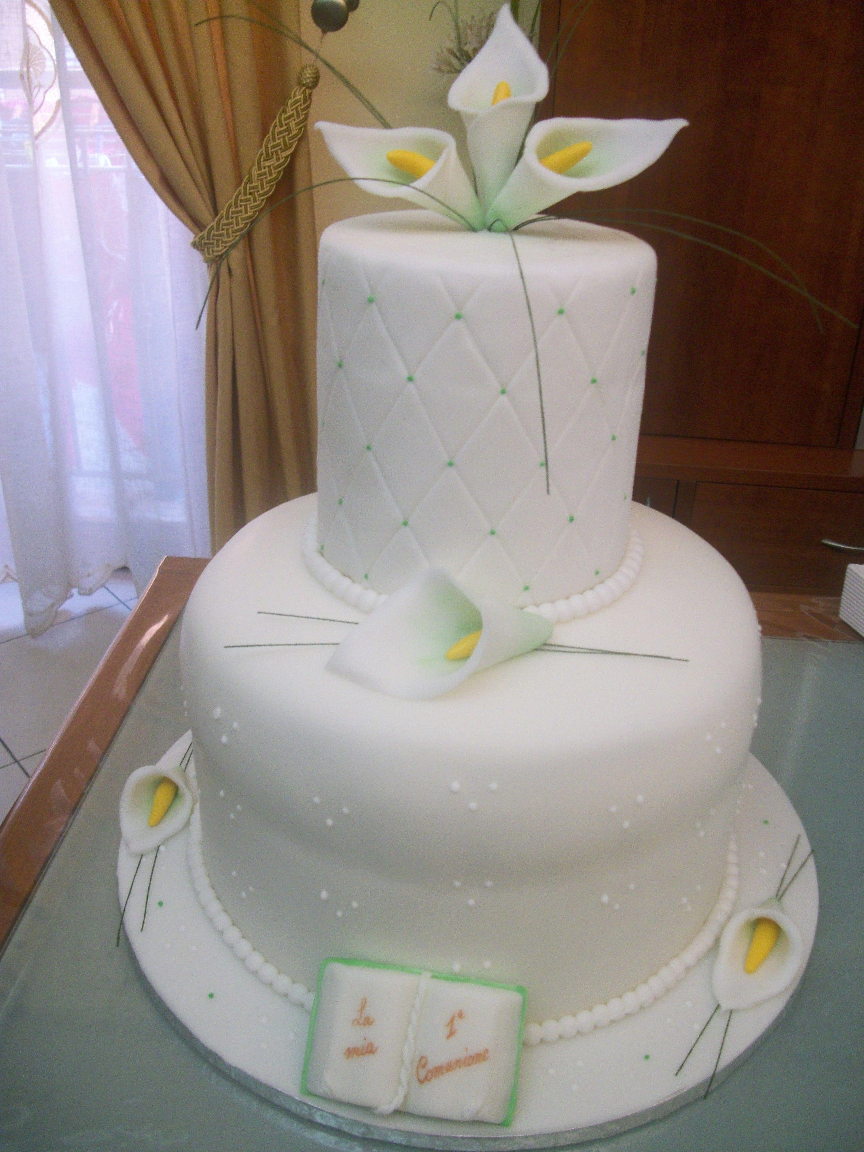 Torta prima comunione la maison del dolce le mie torte for Decorazione torte prima comunione
