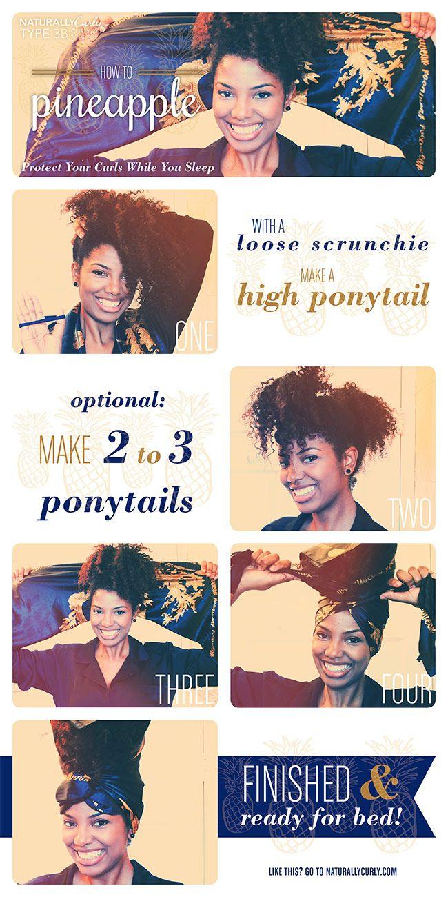 The Pineapple Method For Natural Hair Tutorial Natural Hair Styles Curly Hair Styles Naturally Natural Hair Beauty