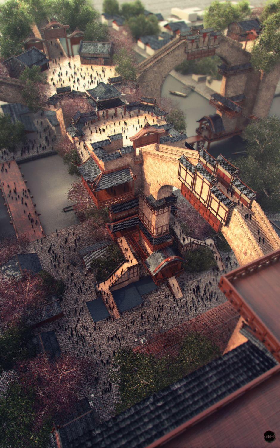 Imperial City by Sergio Acevedo Ruiz   Fantasy   3D   CGSociety
