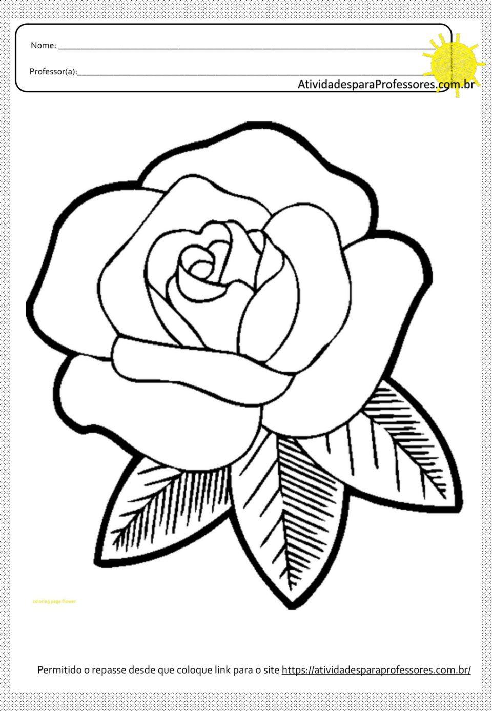 20 Atividades Para Colagens E Pinturas Em Flores Em Pdf Desenho