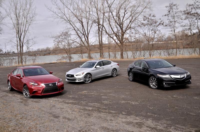 Essai Acura Tlx Vs Infiniti Q50 Lexus Is Les Trois Nipponnes S