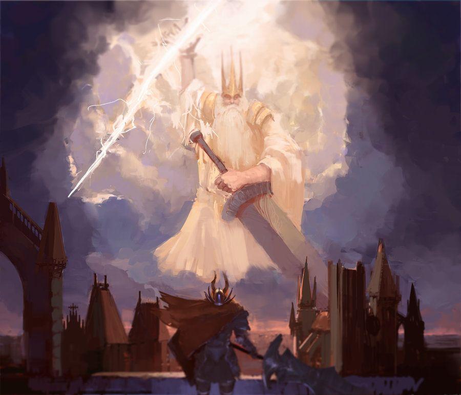 Gwyn Lord Of Sunlight Dark Souls Dark Souls Art Dark Fantasy Art