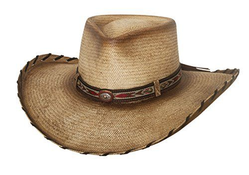338c5d4f0c69d Bullhide Good Company - Straw Cowboy Hat Distressed Low-Profile Pinchfront  Crown 4″ Brim with Whip Stitched Edge Famous Words of Inspiration.
