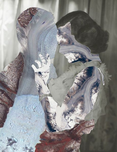 """Glaciers"", Other/ Multi disciplinary, Digital collage, 2012 by Erin Case"