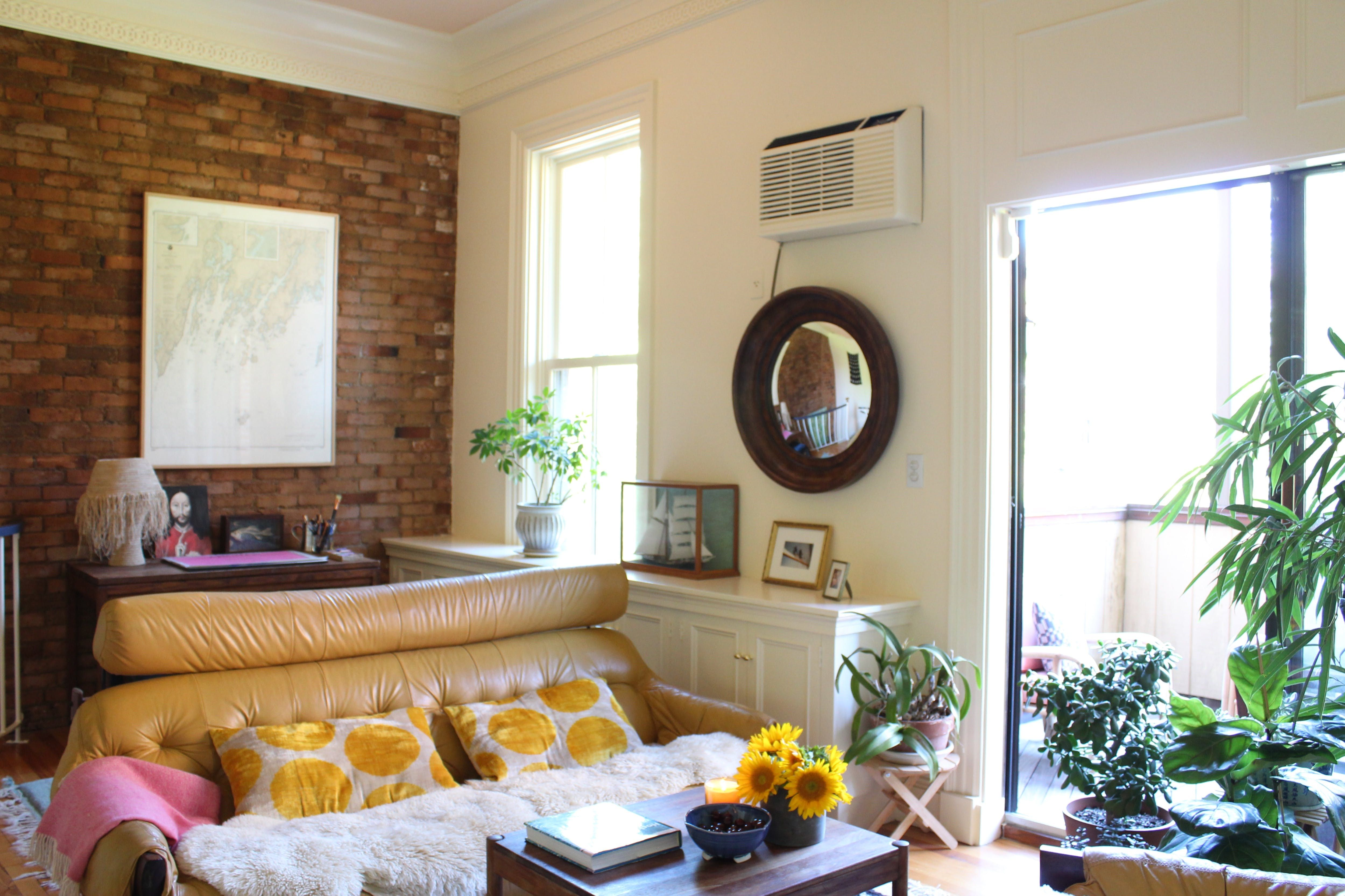 Second Hand Living Room Furniture Earthy Paint Colors For Tour A Boston Home Inspired By Travel All Things Beautiful Milicent And Her Fiance Found The Set At Store People Love It Or Hate She Said About But We Had To Have