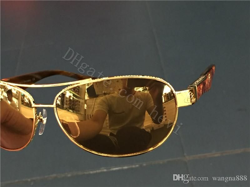 aa84ff4a5768 new luxury car brand Maybach sunglasses 18K gold plated sunglasses pilot  frame Spring temples men brand designer sunglasses G-ZA-Z05