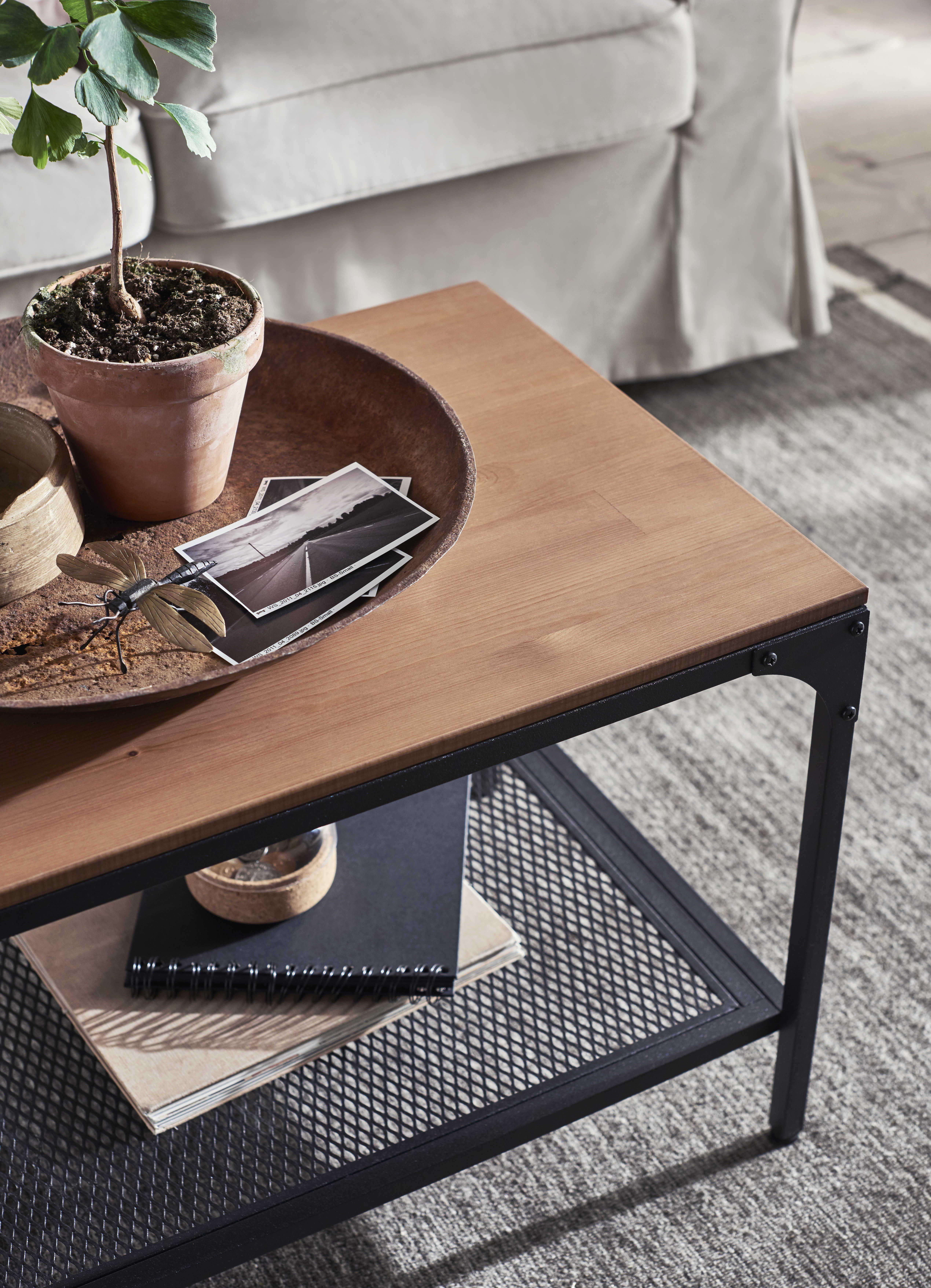 Fjallbo Salontafel Zwart 90x46 Cm Ikea Koffietafel Salontafel Houten Salontafels [ 7021 x 5077 Pixel ]