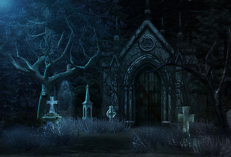"""Abandoned cemetery HQ Without edit """" Haunted tree"""