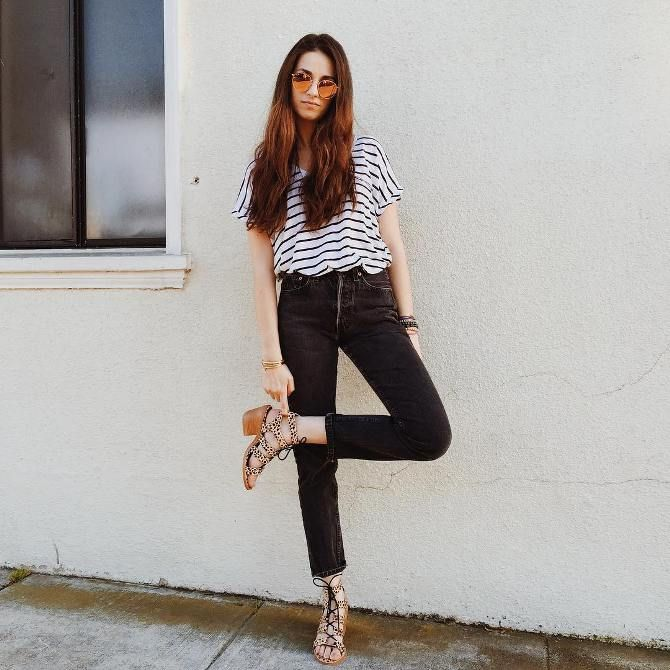 Images of outfits with high waisted jeans