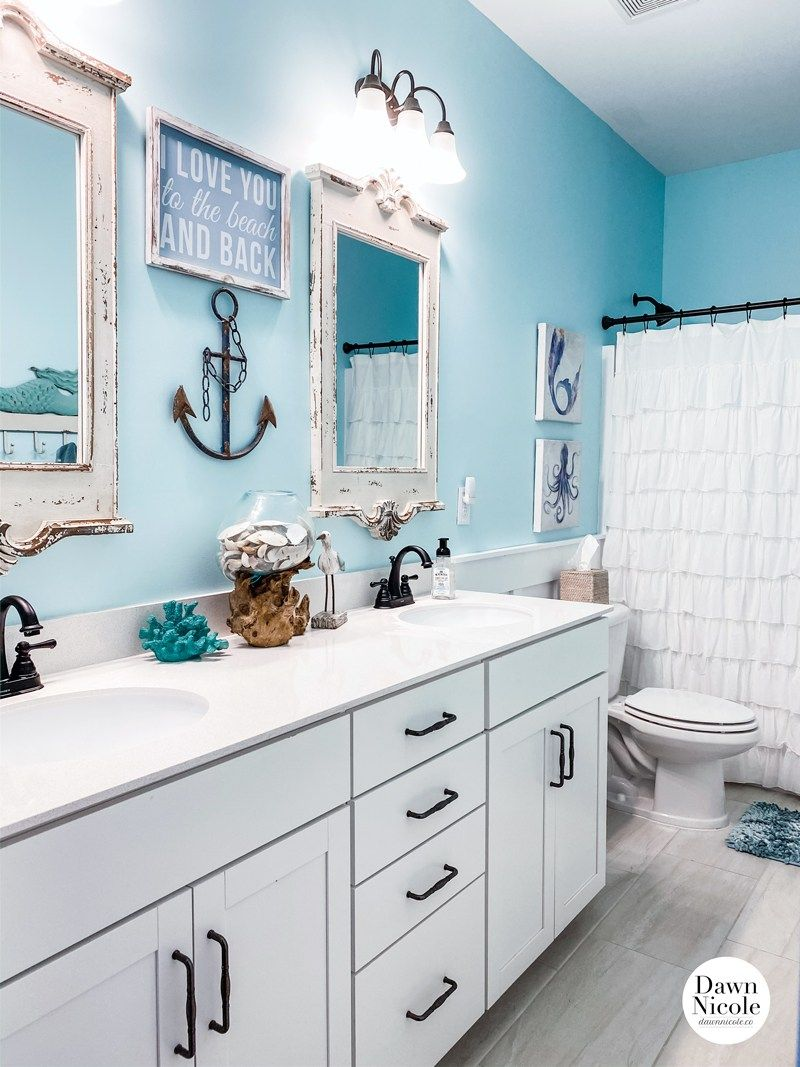 Nautical Bathroom Makeover Reveal, Nautical Pictures For Bathrooms