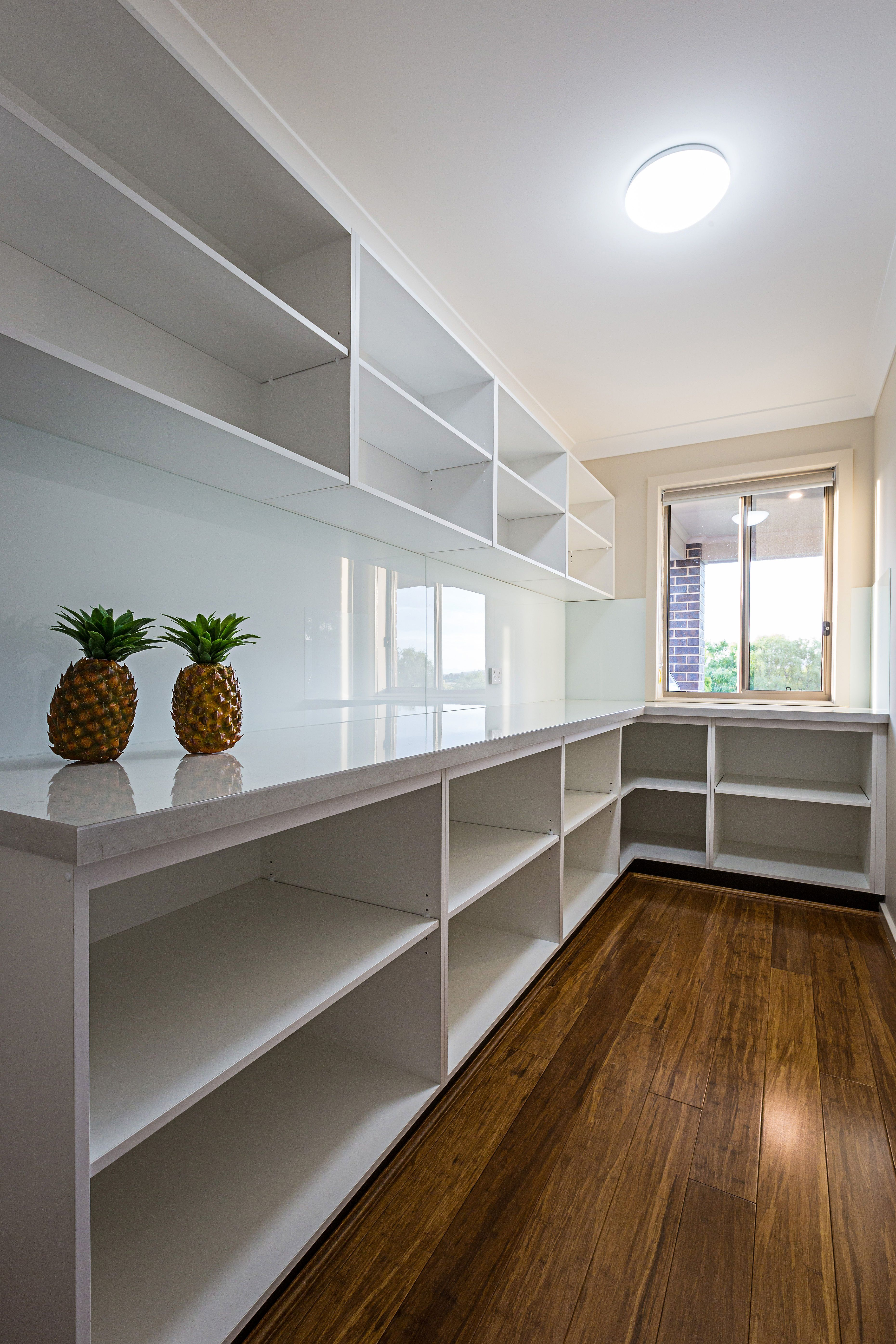 Adding A Window To Your Pantry Can Keep You Engaged With Your Guests Outdoors While You Prepar Kitchen Pantry Design Pantry Decor Interior Design Kitchen Small