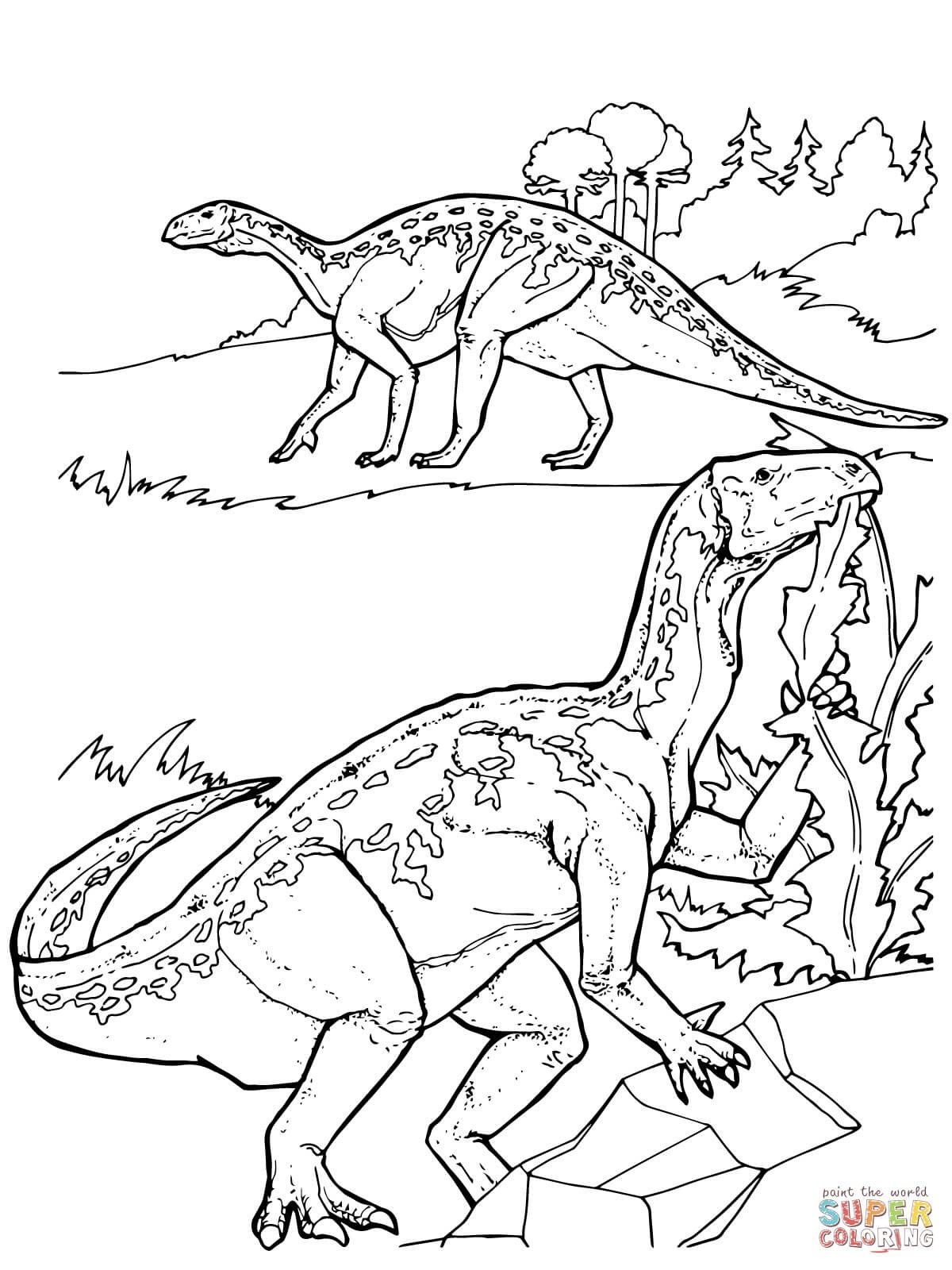 Triassic Dinosaurs Coloring Pages With Images