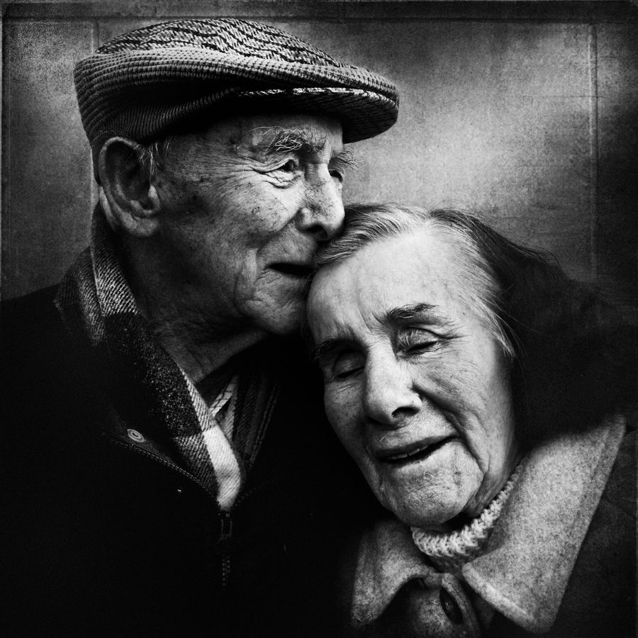 They walked a long way together.... - by Lee Jeffries (1971), UK