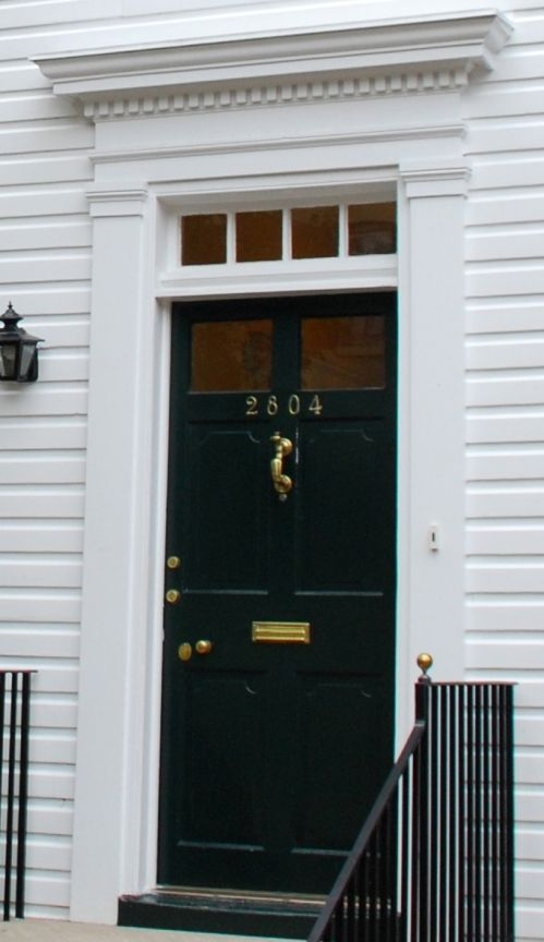 Field Guide To Georgetown Houses Colonial And Federal Period Exterior Door Styles Colonial Front Door Front Door Trims