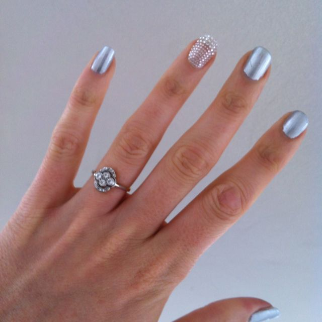 Nails And Antique Engagement Ring!