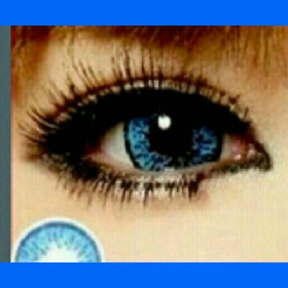 c620789689 Blue colored non prescription contacts Popcorn blue colored contacts  Accessories