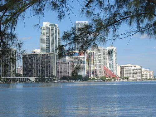 Brickell Neighborhood As Seen From Rickenbacker Causeway Miami
