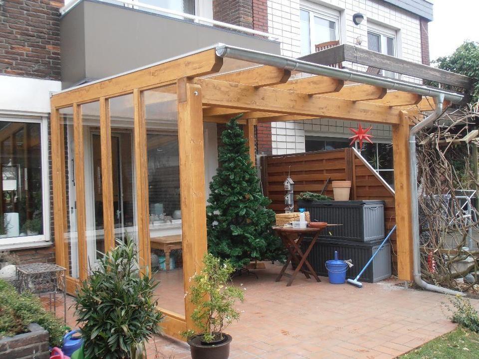 Terrassenüberdachung 5x 3,00 m in Holz u Stegplatten mit
