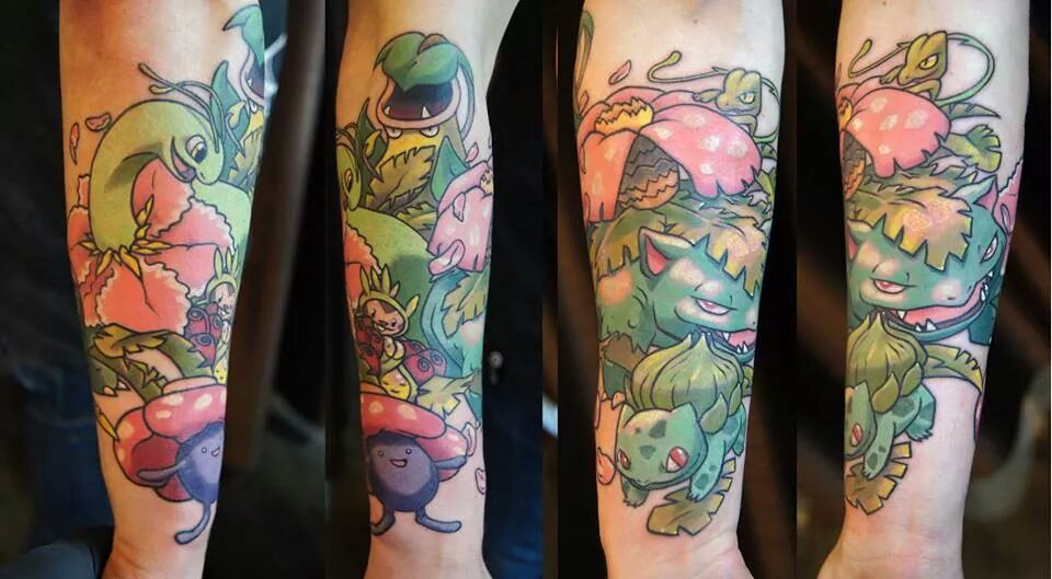 Colorful Pokemons Tattoo Design For Sleeve | Tats ...