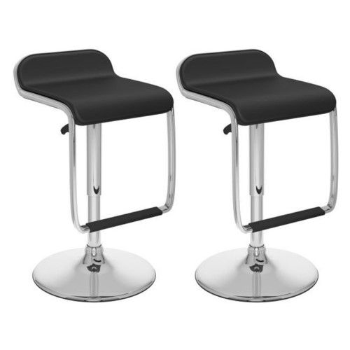 Peachy Corliving Adjustable Bar Stool With Footrest Set Of 2 Machost Co Dining Chair Design Ideas Machostcouk