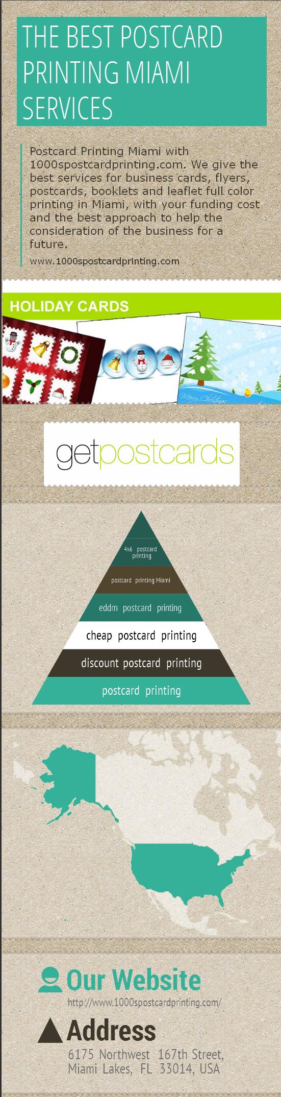Postcard Printing Miami with 1000spostcardprinting.com. We give ...