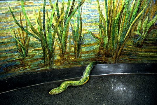 Houston Bayou (SNAKE DETAIL) by Dixie Friend Gay at Houston Airport