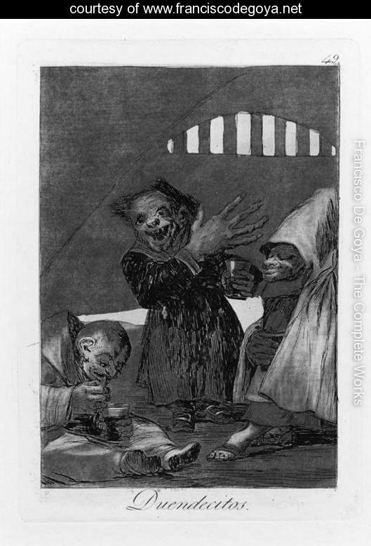 Duendecitos, Plate 49, from Los Caprichos - Francisco De Goya y Lucientes - www.franciscodegoya.net