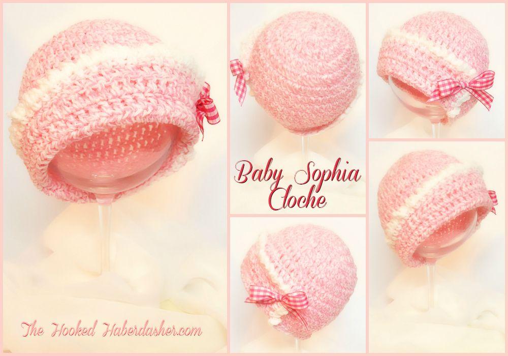 Free Challenge Pattern: Baby Sophia Cloche | gorros | Pinterest ...