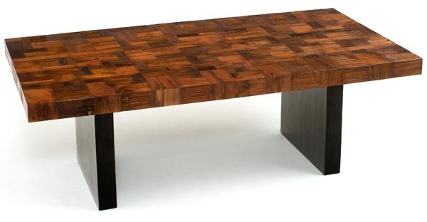 This sophisticated modern dining table is made with reclaimed wood ...
