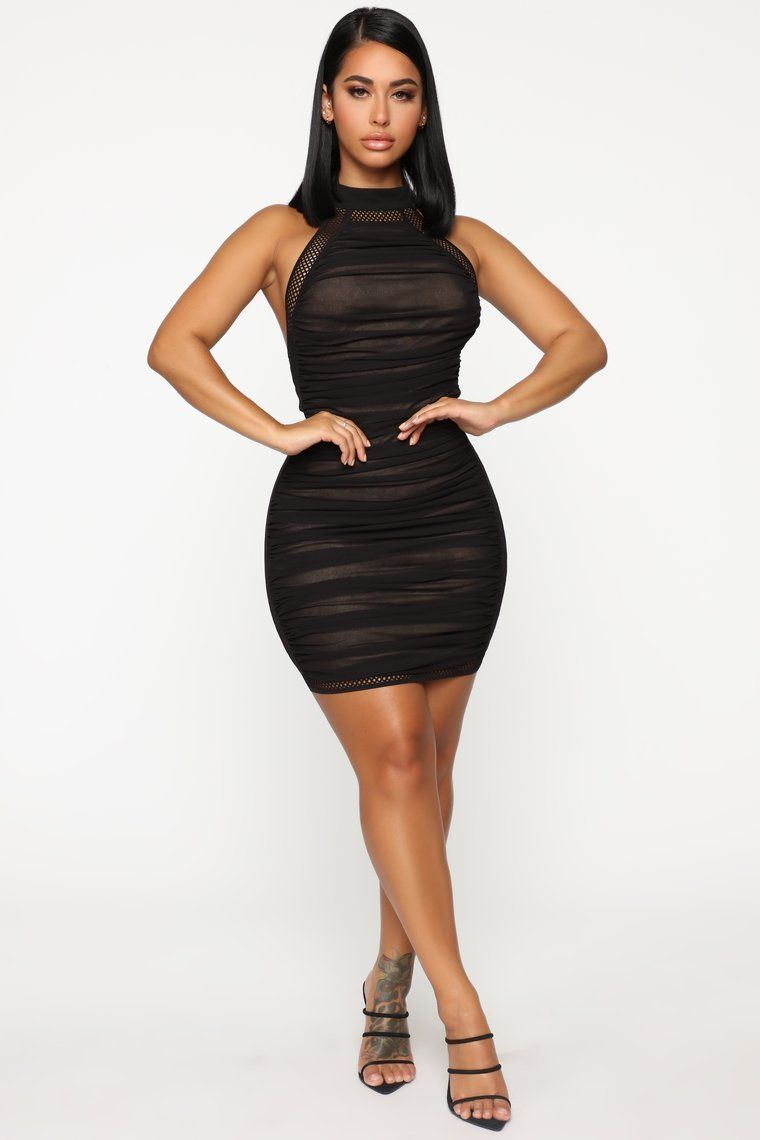 Source by thirstytraveller Black Caught Dress dresses