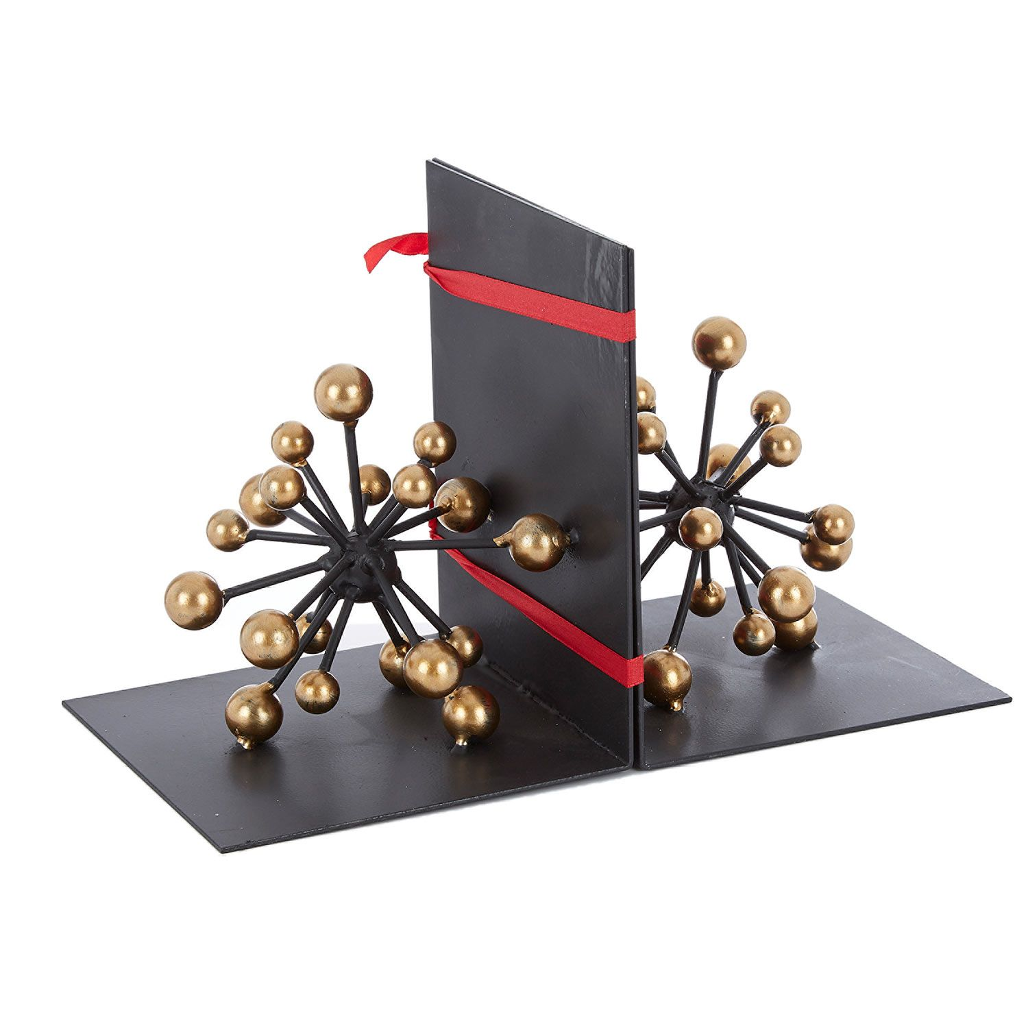 Two Gold Tone Molecular Bookends