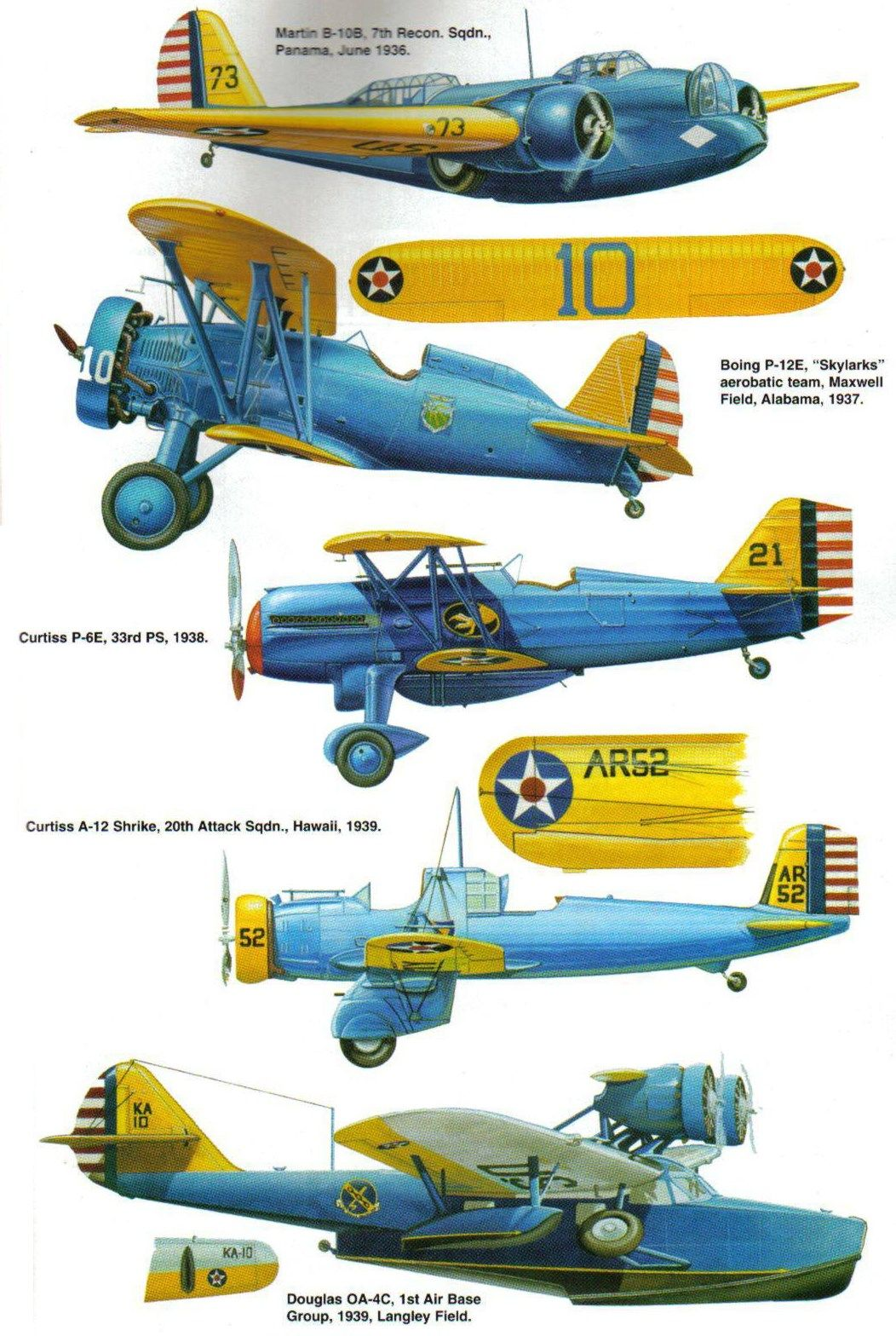 Usaaf Blue And Yellow Period Vintage Aircraft Wwii Aircraft Aircraft Art