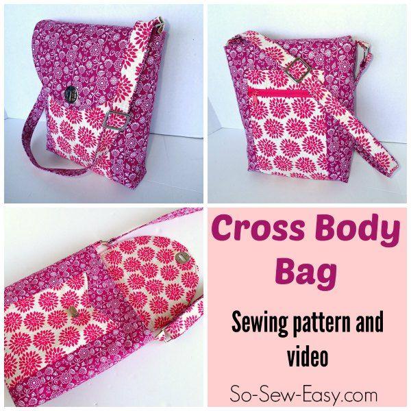 Cross Body Bag pattern - POTM   Diy tasche, Nähen und Organizer
