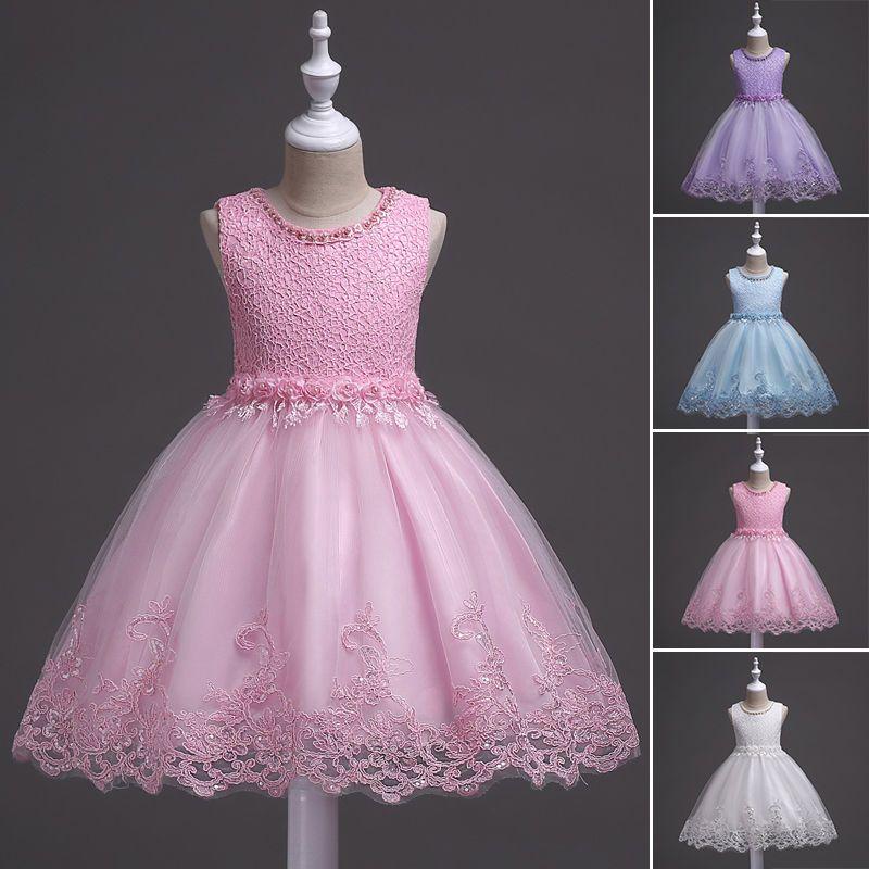 Details zu Mädchen Blumenprinzessin Kleid Kinder Party Hochzeit ...