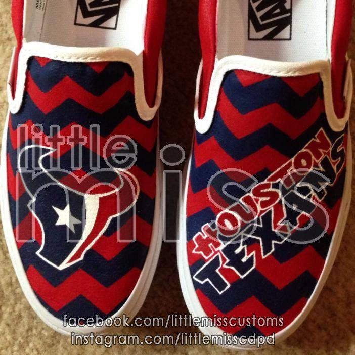 Houston Texans Hand Painted Vans by LittleMissCustoms on Etsy