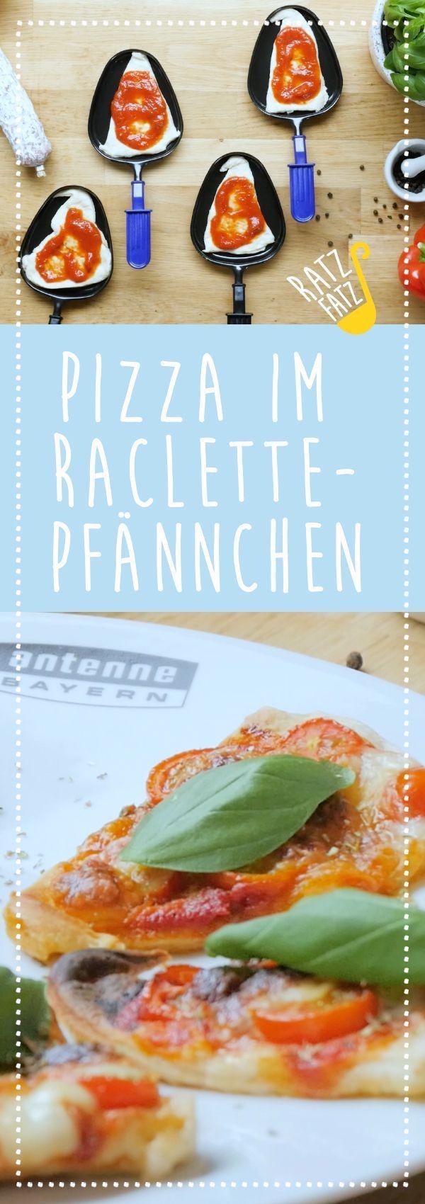 in raclette pans  Pizza in raclette pans  Pizza in raclette pans